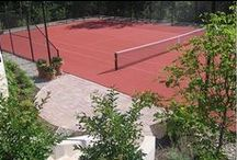 Custom Tennis Courts / Experience the beauty and functionality of a DeShayes custom tennis court. #customtenniscourt