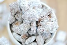 Snack Recipes / muddy buddies, snack mix, and other poppable snacks