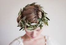 Kyleen + Gus / COLOR + STYLE: White, green and lavender; simple and rustic.