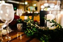 Christy + Rob / COLOR + STYLE: Burgundy, blush, ivory, silvery greens; organic and wintery.
