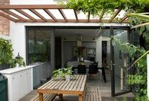 Mijn Grachtenpand- inside outside living / inspiration for our roof terrace and inside-outside living spaces