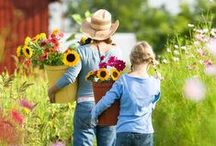 """GARDEN: CHILDREN / """"Children are born naturalists. They explore the world with all of their senses, experiment in the environment, and communicate their discoveries to those around t"""