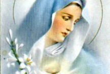 FAITH: VIRGIN MARY AND FLORAL SYMBOLS / The Blessed Mother is always surrounded by flowers.