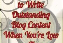 Blogging / Resources containing the best blogging tips and advice that can help you keep your business blog in tip top shape.