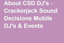 DJ Crackerjack ~ Who We Are and What We Offer / Crackerjack Sound Decisions Mobile DJ's & Events provides music,entertainment and event coordinating services in the Carolinas and beyond. www.crackerjacksounddecisions.com