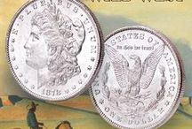 Magnificent Morgan Dollars / Littleton Coin loves Morgan silver dollars! These hefty silver dollar coins are American favorites. They conjure up images of the Wild West and are among the most popular silver coins to collect. Here's what inspires us to collect Morgan dollars. / by Littleton Coin Company