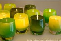 HOME: GLASSYBABY / Blown glass, glassybaby candle holders. I'm passionate about them.