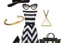 Fashion Trend: Black, White, Gold