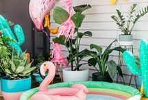 Party Style: Flamingo Fabulous / Tropical splendour inspired by the gorgeous vibrant pink hues of the flamingo.