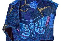 Printed Silk-Velvet Scarves