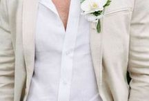Style Notes: What the groom wore / Inspiration for the groom and groomsmen for the wedding day.