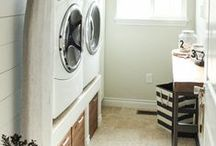 Laundry Time / With a beautiful, organized laundry room...I may never come out~!