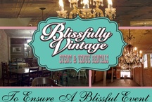 Blissfully Vintage Event Rentals / Check us out on facebook. The first vintage rental service in our area. We are constantly adding to our unique collection. / by Denise Lemaster