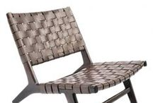 Chairs / Modern Chair Series (Premium Leather and Cowhide)   Antique Teak with Shell Inlay   Teak and Sono Wood