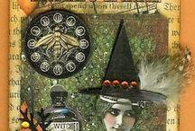 Cards - Halloween , Tags, ATC's / by Linda Spray