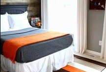 Boys' Bedroom Inspiration / Blues, Oranges, Browns, Greens - Rustic Modern