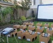 Outdoor Movies @ Home! / Ideas//Inspiration for our own cinemas