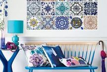 Azulejo's Interiors / A board to show a plethora of ideas of what you can do with our Azulejo Wall Tile Sticker Range. Creative interiors, fun spaces and a flashback to early Portugese artistic traditions.