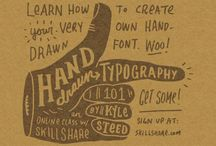 Hand drawn type / by Russell Hardingham