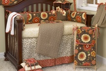 Peggy Sue / The Peggy Sue baby bedding set is a combination of perfectly balanced cottons with washed linens and floral prints. The bumper is patched front and back in brown geometric linen and retro floral with tomato red cord and ties. The soft tone on tone cream floral sheet is 200 thread count cotton. The front pleat crib skirt is banded in matching red with a brown and cream vine floral design. http://www.cottontaledesigns.com/collections/peggy-sue-by-n.-selby.html