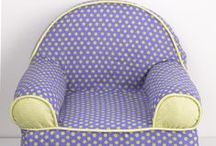 Baby's 1st Chairs / Baby's 1st Chair is a light weight foam chair covered in bright, fun fabrics. The chairs are coordinated to match crib bedding from the Cotton Tale line. These little chairs are great fun for baby and a special addition for the nursery, measuring 16 x 18 x 17. Cotton cover has a zipper and is machine washable in cold water, delicate cycle. Hang to dry. Perfect for your nursery.