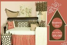 Sales and Promotions / Information on promotional items, discounts, sales, and clearance baby bedding and nursery decor from Cotton Tale Designs.