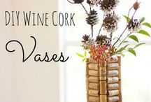 DIY With Wine / The holidays are approaching fast. These wine cork and up-cycled wine bottle craft ideas make great gifts, and are fun to make from start to finish. Need some craft supplies? Visit barefootwine.com to find wine near you.