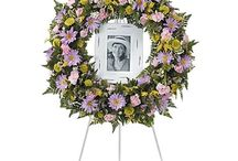 Pastel Funeral Inspiration / Here are a few pastel-colored funeral stationery themes and floral arrangements to give you inspiration.