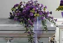 Purple Funeral Inspiration / Here are a few purple-colored funeral stationery themes and floral arrangements to give you inspiration.