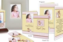 Child's Funeral Inspiration / Here are a few funeral stationery themes and floral arrangements for a life lost too soon.