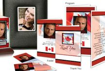 Proud Canadian Funeral Inspiration / Want to honor the proud Canadian in your life? Here are a few funeral stationery themes and floral arrangements to give you inspiration.