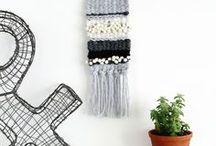 Weaving, macrame, crochet, knitting and wool.