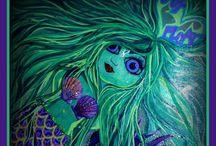 Paint Splattered Lexi  / My Art, garden and craftin' creations...