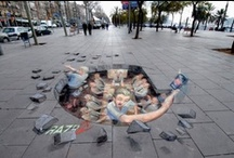 Art- Street art / Includes awesome 3-D chalk art by Julien Beever, Kurt Wenner, Edgar Mueller, Leon Keer, Manfred Stader and many more! / by Donna Staten