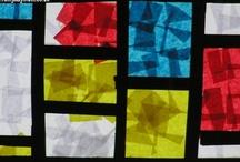 ArtEd- Piet Mondrian / Pieter Mondrian was a Dutch painter.  Born 1872 in the Netherlands, died 1944 in New York City. / by Donna Staten