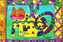 ArtEd- Laurel Burch / Laurel Burch, born in California (1945-2007)