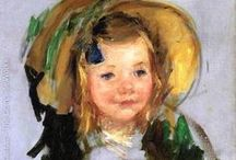 ArtEd- Mary Cassatt / Mary Cassatt, born in Pennsylvania- lived in France; Impressionist painter known for family pictures with children (1844-1926)