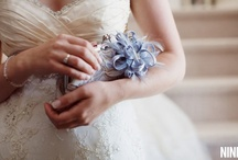 Inspirations: Something Blue / Inspiration Color Mood Board for Weddings with everything of something blue.  A lovely curated collection for brides, bridesmaids, decor, flowers, cakes, event, wedding accessories and eye candies hand picked by ANGEE W.