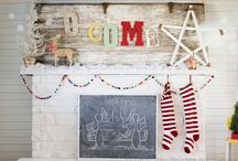 Holiday mantle ideas / by Jill Ligon