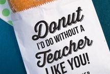 Teacher Gifts / Gift Ideas for Teacher's Appreciation Week - show your kid's teacher how much you appreciate them / by The Children's Place