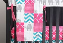Girl Nursery - Colorful Circus Themed with Pink and Green / Circus themed little girls nursery with tan walls, dark wood trim, candy pink, lime green, teal blue, tangerine orange, polka dots and stripes.  / by My Imprint Ink