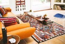 DESIGN // Southwestern / A modern take on Southwestern patterns and colors for our living room!