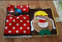 Quiet Books / Crafting books using textiles and felts for children's busy hands and minds