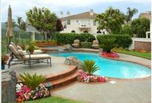 POOL AREA / for pool or MY backyard oasis / by Jeannie Wirey