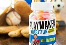 Playmaker Vitamins / Information about our three products: Multivitamin, Calcium Vitamin D, and Immunity Vitamin C.