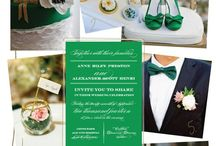 My Wedding Planners! / Colors: Emerald, Black, Gray/Silver, Ivory  Feel free to help me plan Drew and I's BIG DAY!!! :) / by Faith Marie