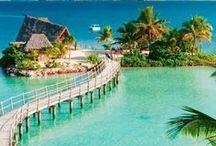 Tropical Dream Getaways / Beautiful Islands, Luxury Resorts + Spa Retreats; Places to simply relax + enjoy life