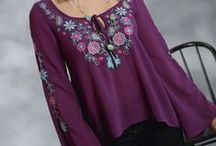 Peasant Blouses with Western Flair / Loose fitting, comfortable and feminine! We love our collection of peasant blouses!