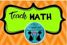 TEACH MATH! / Math, lessons, education, teaching, elementary, middle school, geometry, math facts, printables,