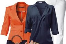 *ORANGE/BLUE fashion* / Clothes that are both orange and blue together or separate. / by Cheri Rollo